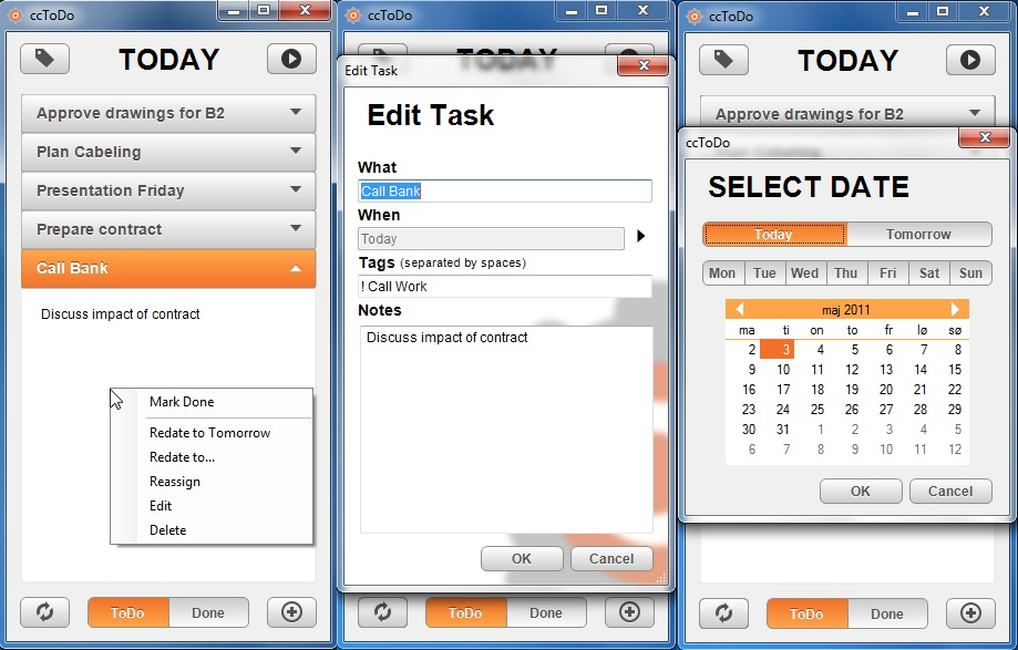 Click to view ccToDo 1.1 screenshot